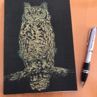 Gold Owl Notepad A5